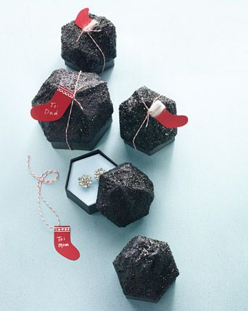 Lump of Coal Gift Box (with a Secret)..with how-to