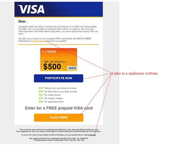 Free Prepaid Visa Card Scam - http://www.mailshark.com.au/recent-security-news/free-prepaid-visa-card-scam-19360