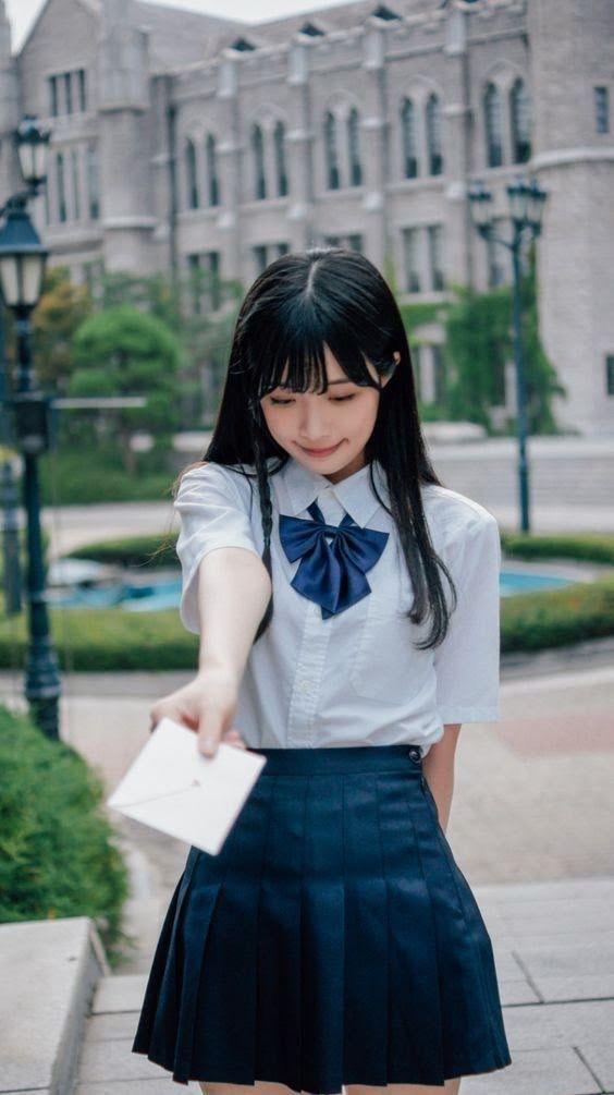 Japanese School Girl Outdoor