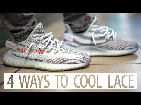 How To Lace Your Yeezy 350 4 Ways Youtube Yeezy Yeezy 350 Adidas Yeezy Boost