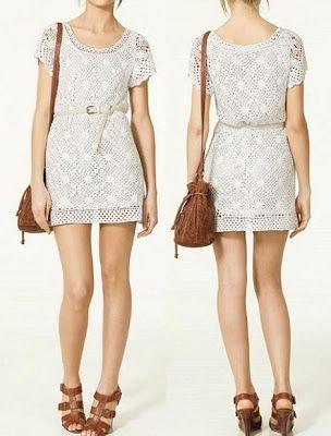 Zara Spring crochet dress
