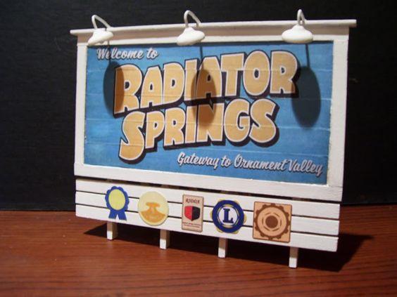 Radiator Springs Billboard Printable