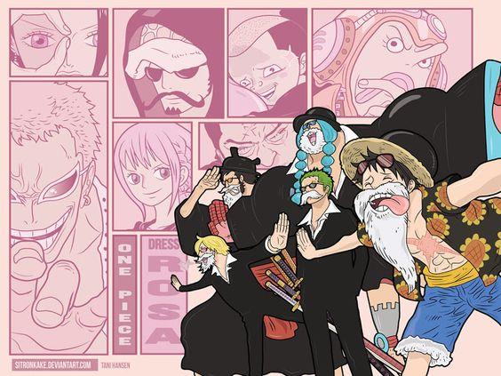 dressrosa arc luffy zoro franky sanji doflamingo issho trafalgar law nami usopp one piece anime hd wallpaper