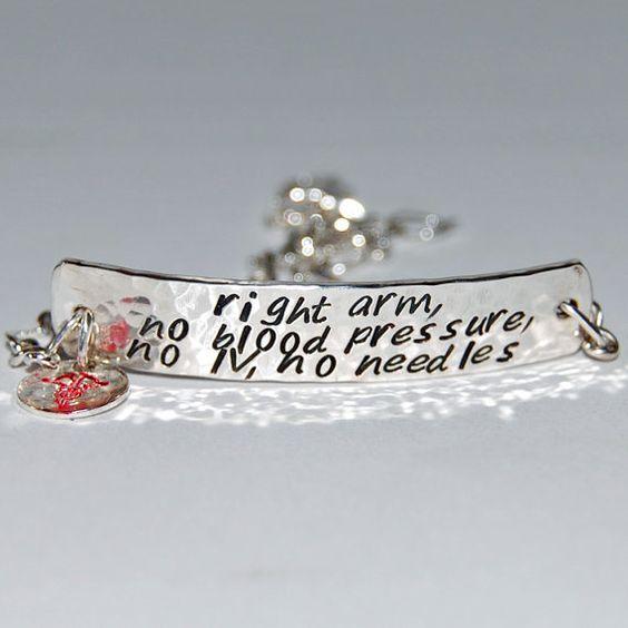 Wholesale Medical Alert Bracelet Lymphedema Jewelry
