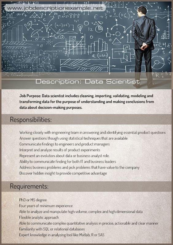 20 Best images about Job description example on Pinterest Editor - system analyst job descriptions