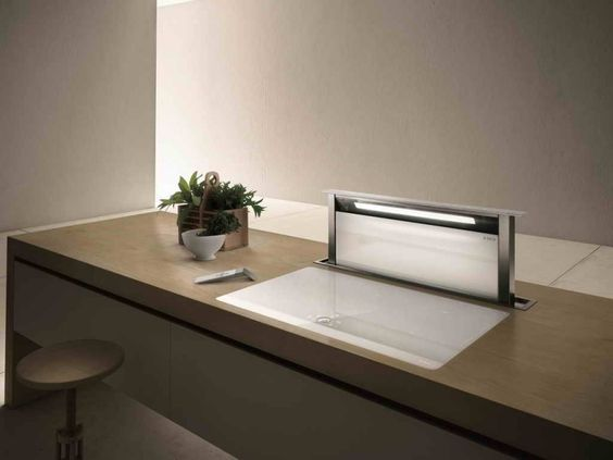 Moderne Dunstabzugshaube als Blickfang in der Küche - 100 Design - moderne dunstabzugshauben küche