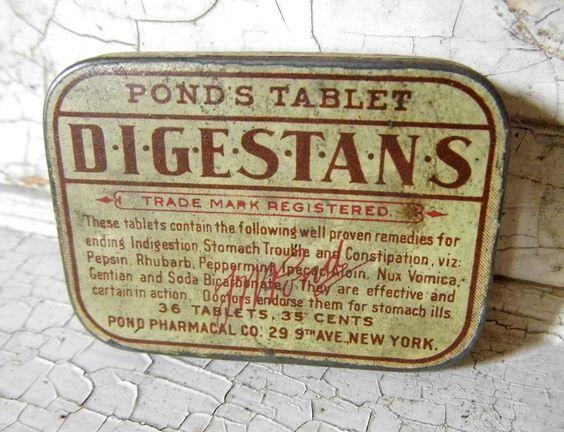 Vintage Quack Medicine Tin from AllVintageMan.etsy.com: