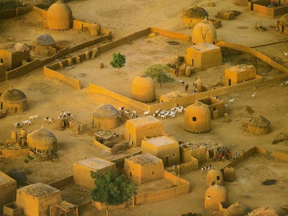 Africa | Detail Of Village Near Tahoua. Niger | Photographer unknown: