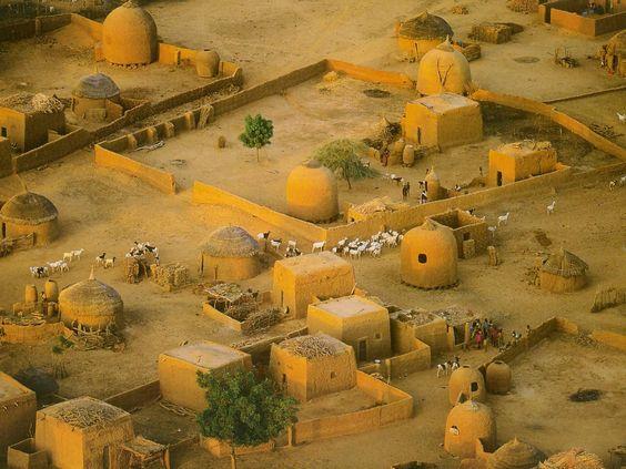 Africa | Detail Of Village Near Tahoua. Niger | Photographer unknown: