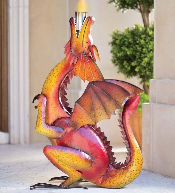 Handcrafted Metal Dragon Firepot