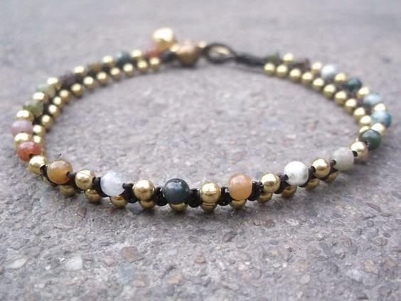 A personal favorite from my Etsy shop https://www.etsy.com/listing/104493669/smoothly-jade-ball-stone-bracelet-anklet