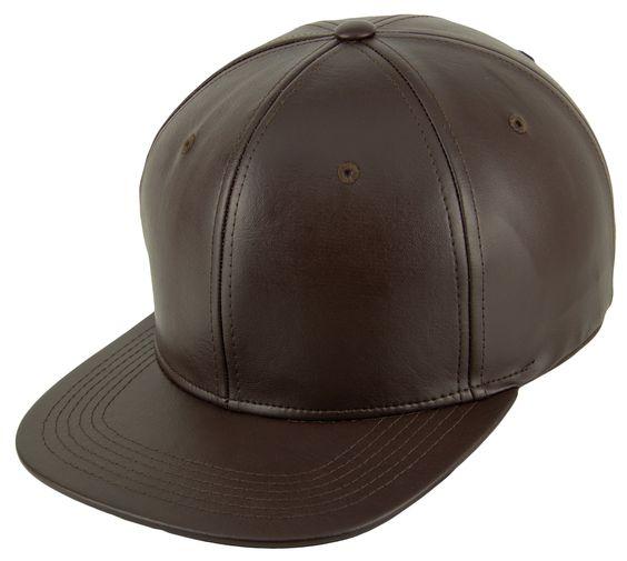 Blank PU Leather Strapback Caps