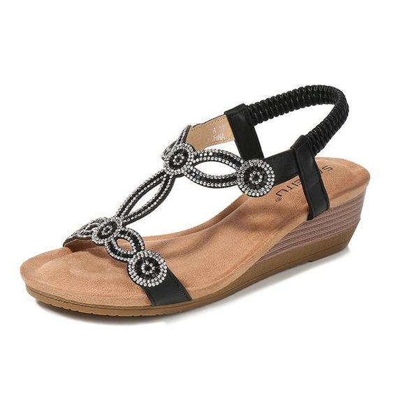 Casual Sequin Sandals With Strappy shoes womenshoes footwear shoestrends