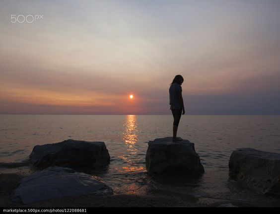 Sunset Girl - foto de stock
