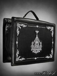 "Suitcase ""CHANDELIER"" gothic satchel bag gothic lolita embroidery"