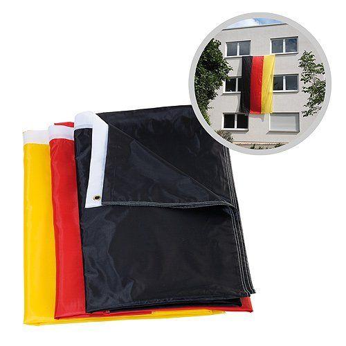 """Tolle Fanartikel zur Fußball-WM 2014, wie """"Riesenflagge Deutschland 5m x 3 m"""" hier kaufen: http://fussball-fanartikel.einfach-kaufen.net/flaggen-wimpel/riesenflagge-deutschland-5m-x-3-m/"""