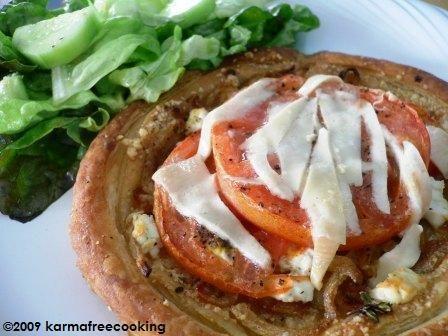 Tarta de Tomates y Queso de Cabra...  sencilla e impresiona!!! @KarmaFree Cooking