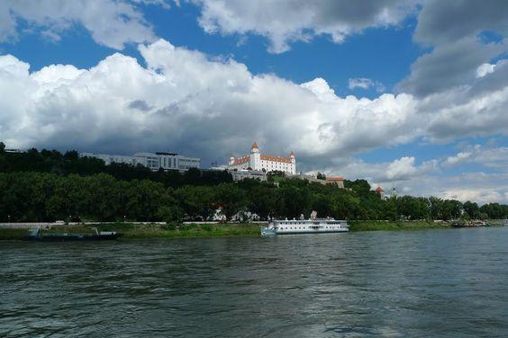 Bratislava Danube and castle, #slovakia