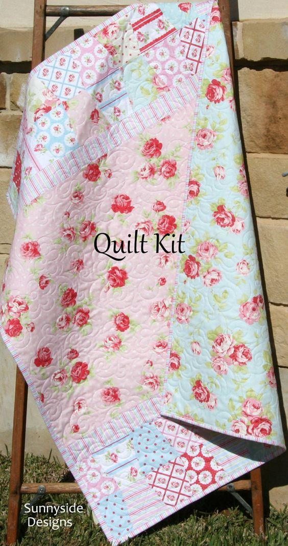 last one girl baby quilt kit lulu rose tanya whelan. Black Bedroom Furniture Sets. Home Design Ideas