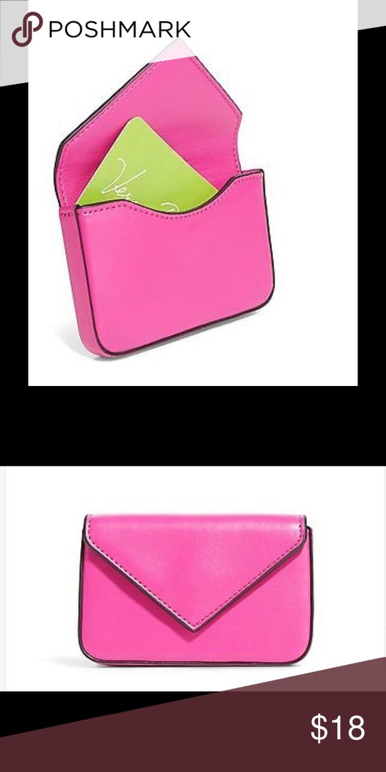New Vera Bradley Business Card Case Measures X 2 Magnetic Closure Accessories Key Holders