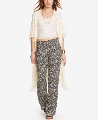 Denim & Supply Ralph Lauren Floral-Print Wide-Leg Gauze Pants ...