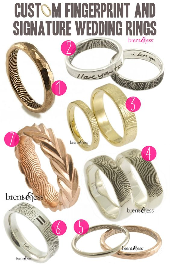 Brent & Jess: Handcrafted Fingerprint and Signature Wedding Rings - A Practical Wedding: Blog Ideas for Unique, DIY, and Budget Wedding Plan...