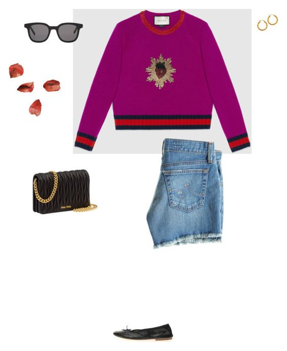 """""""you should be with me"""" by pieaah ❤ liked on Polyvore featuring Gucci, AG Adriano Goldschmied, Miu Miu and Christian Dior"""