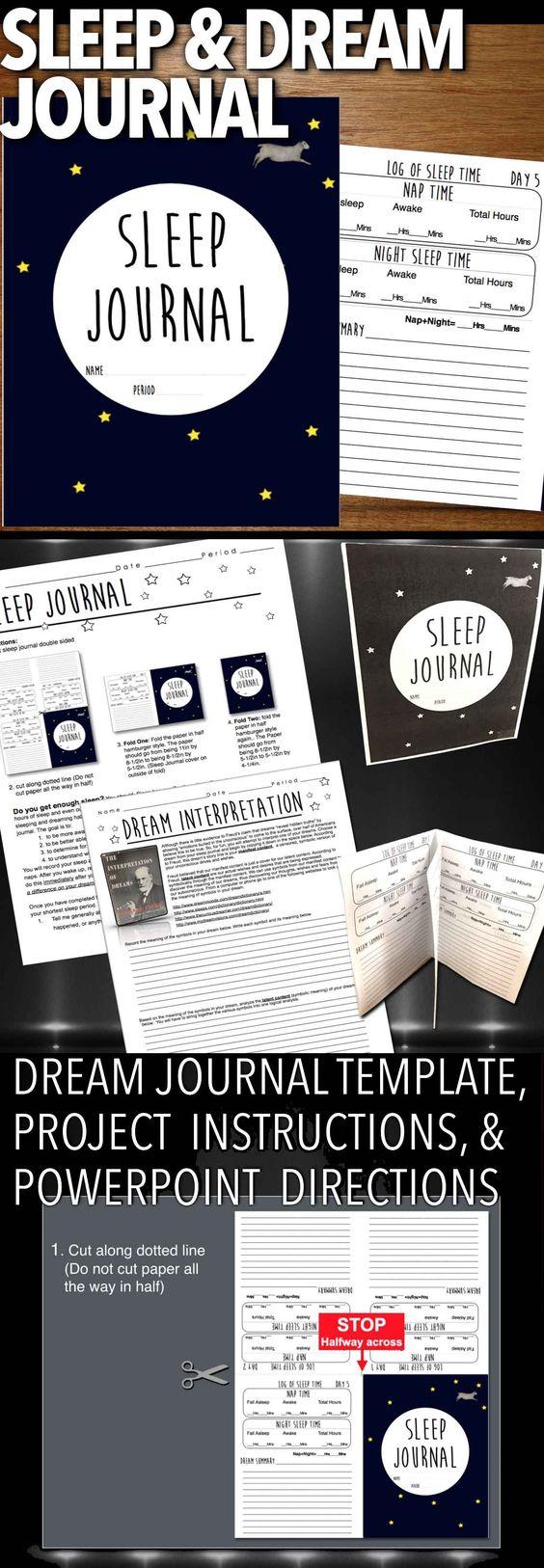 Sleep dream diary