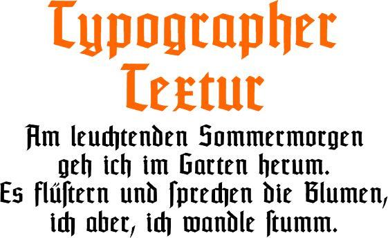 Typographer Textur