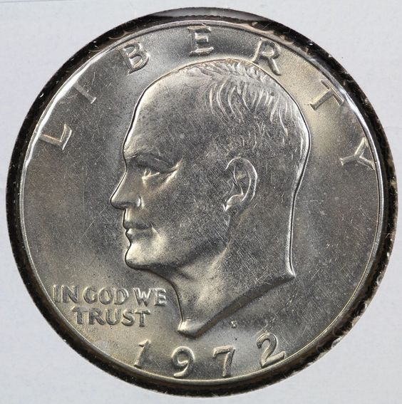 1972-D Eisenhower Dollar Mint State #coins #coincollecting #collectingcoins