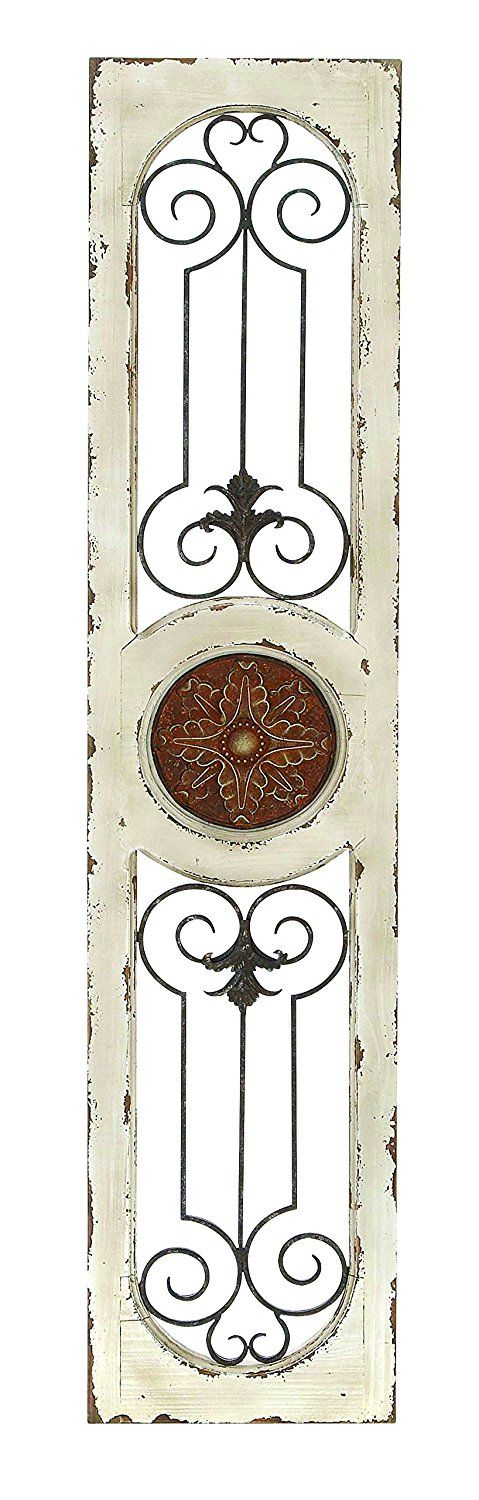 Amazon.com: Deco 79 Wood Metal Wall Panel, 58 by 12-Inch: Home & Kitchen