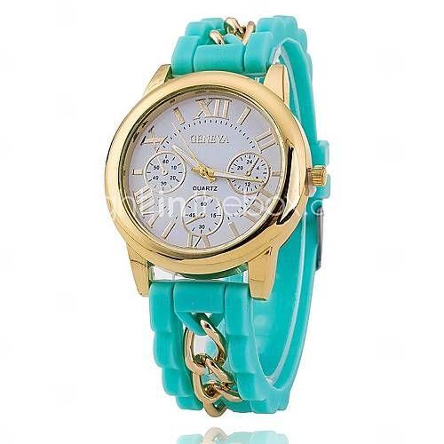 Herren Modeuhr Quartz Armbanduhren für den Alltag Silikon BandSchwarz / Weiß / Blau / Rot / Orange / Braun / Grün / Rosa / Lila / Gelb / 5018481 2016 – €7.83