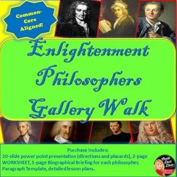 enlightenment philosophers gallery walk activity activities student and the classroom. Black Bedroom Furniture Sets. Home Design Ideas