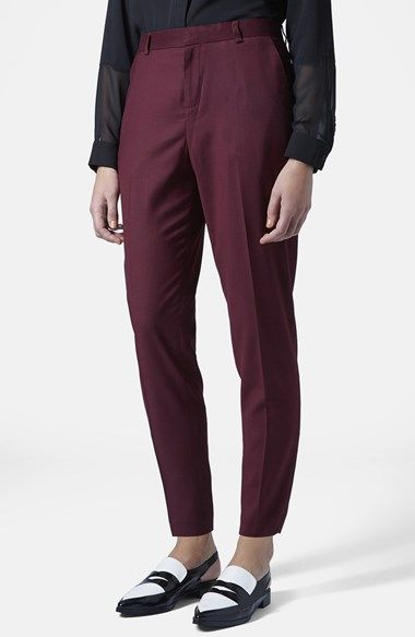 Topshop Premium Suit Trousers available at #Nordstrom