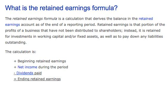Retained Earnings Formula Financial MKT Pinterest Cpa exam - external audit report