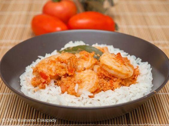 Kulinarne Eskapady: Indyjskie kokosowe curry z krewetek