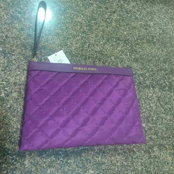 Michael Kors XL Clutch Gorgeous Violet XL Zip Clutch. MICHAEL Michael Kors Accessories