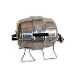 New Stainless Gas Keg-a-Que with Warming Rack