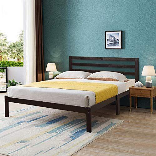 Buy Giantex Modern Wood Platform Bed Frame W Headboard Mattress