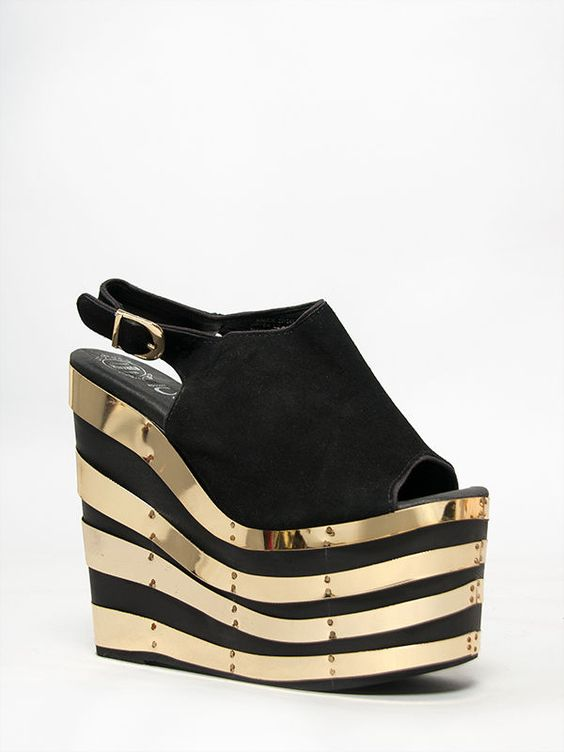 Details about JEFFREY CAMPBELL SNICK 2PTO Black Suede Gold