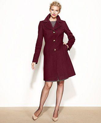 Anne Klein Coat Wool-Cashmere-Blend Walker - Coats - Women