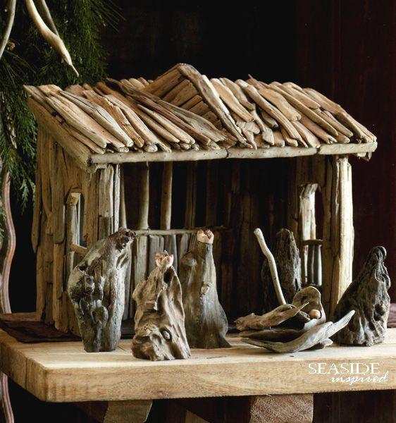 Driftwood Nativity Set Driftwood Crafts Pinterest Beautiful Stables And Christmas Decor
