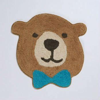 【Tomo】療癒動物純棉地墊_紳士棕熊
