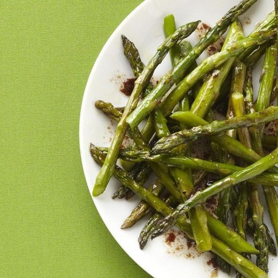 "Baked Asparagus with Balsamic Butter Sauce I ""The asparagus comes out ..."