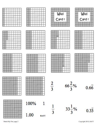math worksheet : here s an activity for matching equivalent fractions decimals and  : Matching Equivalent Fractions Worksheet