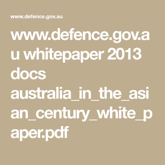 wwwdefencegovau whitepaper 2013 docs - white paper pdf