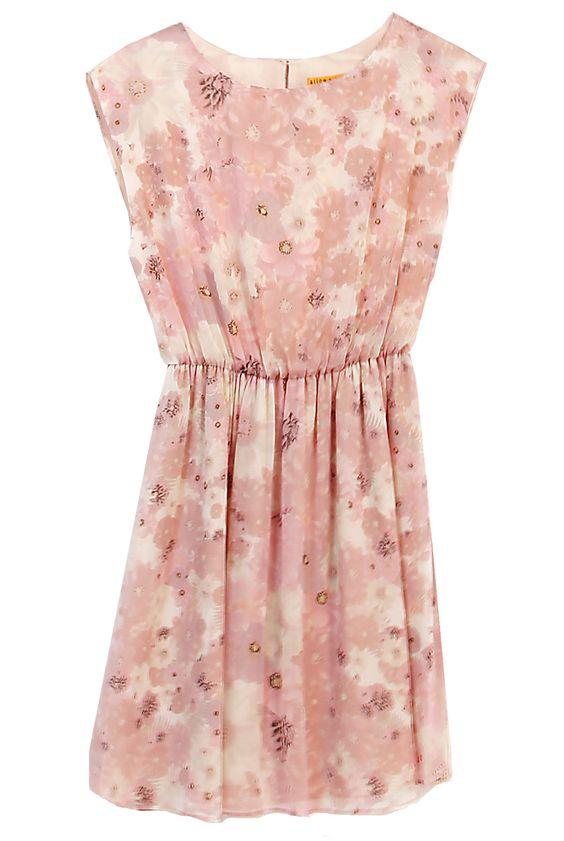 Alice + Olivia  Lou Sleeveless Blouson Dress