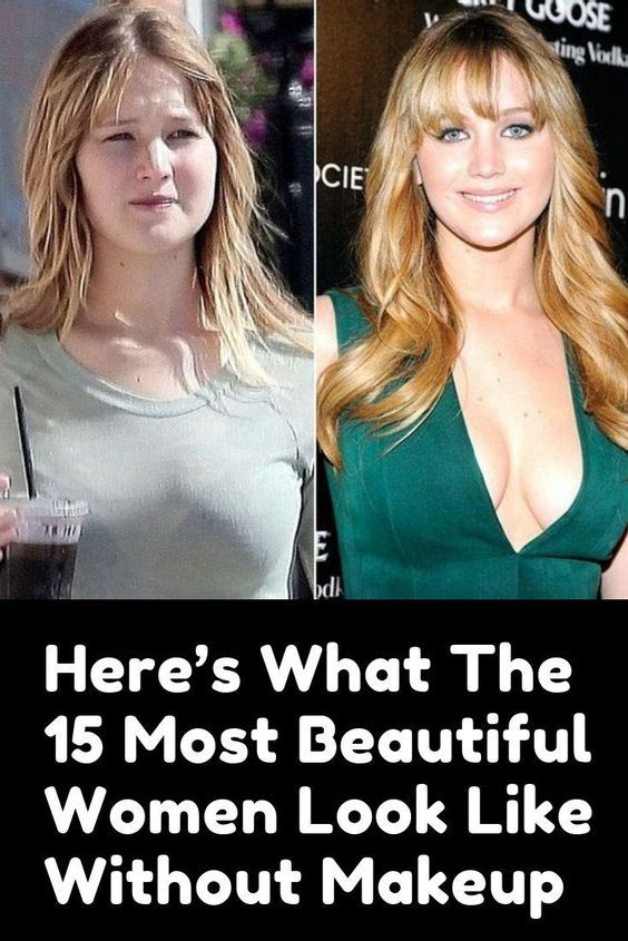 Beautiful without makeup woman most 10 of