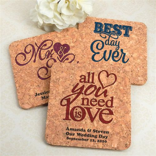 Personalized Wedding Favor Coasters