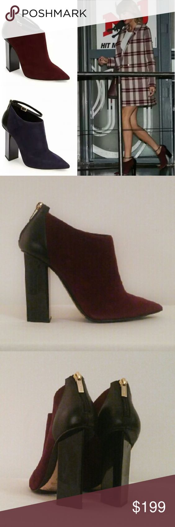 jimmy choo boots burgundy suede size 6